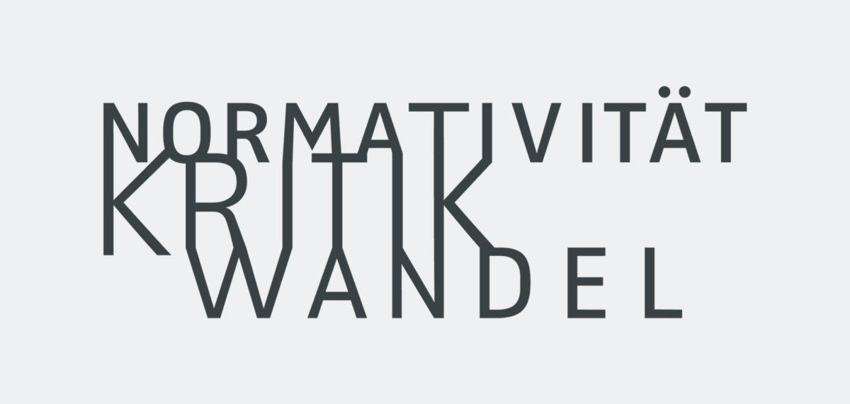 """Deutsches Logo für das Graduiertenkolleg 2638 """"Normativität Kritk Wandel"""" an der Freien Universität Berlin"""