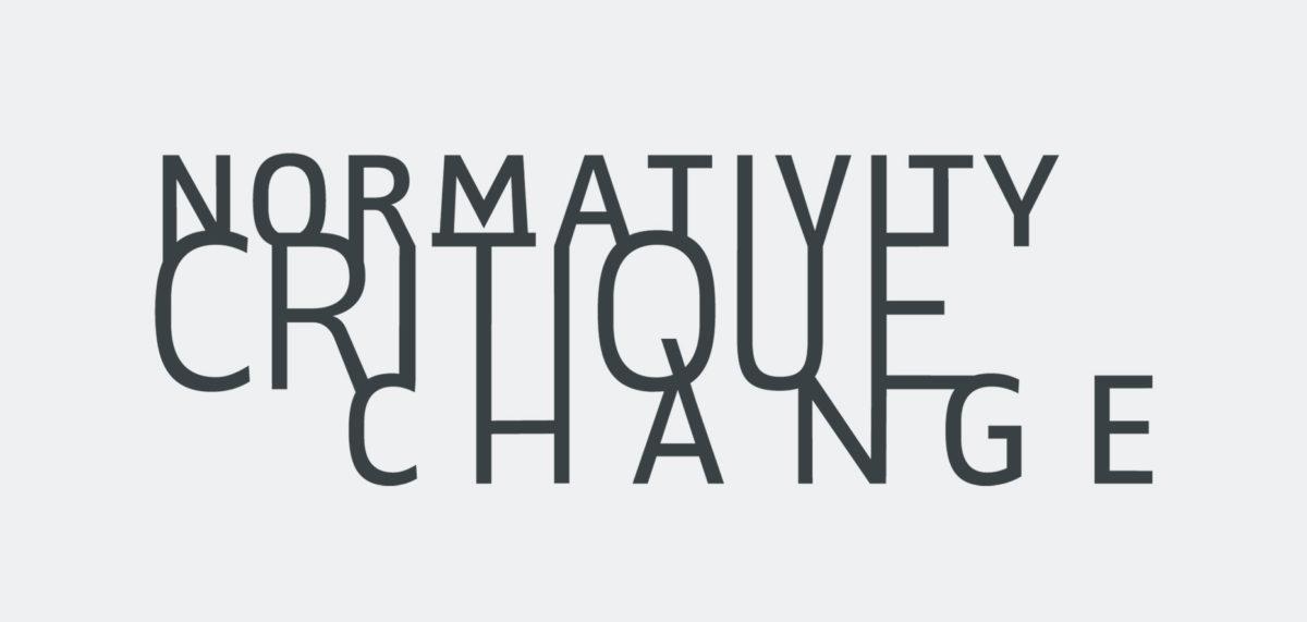 """Englsiches Logo für das Graduiertenkolleg 2638 """"Normativität Kritk Wandel"""" an der Freien Universität Berlin"""