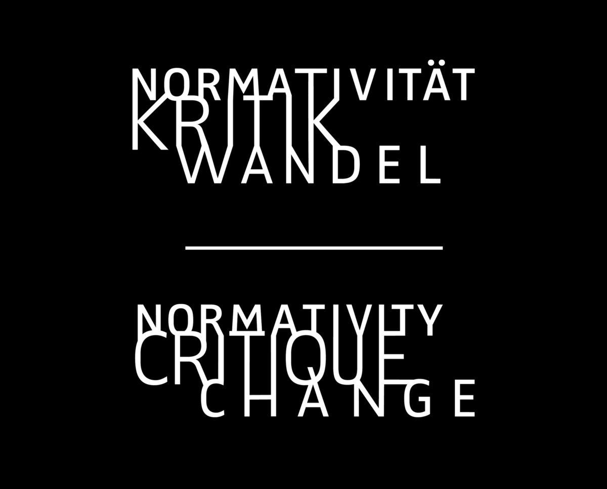 """Schwarz-Weiß Version des Logos, Graduiertenkolleg 2638 """"Normativität Kritk Wandel"""" an der Freien Universität Berlin"""