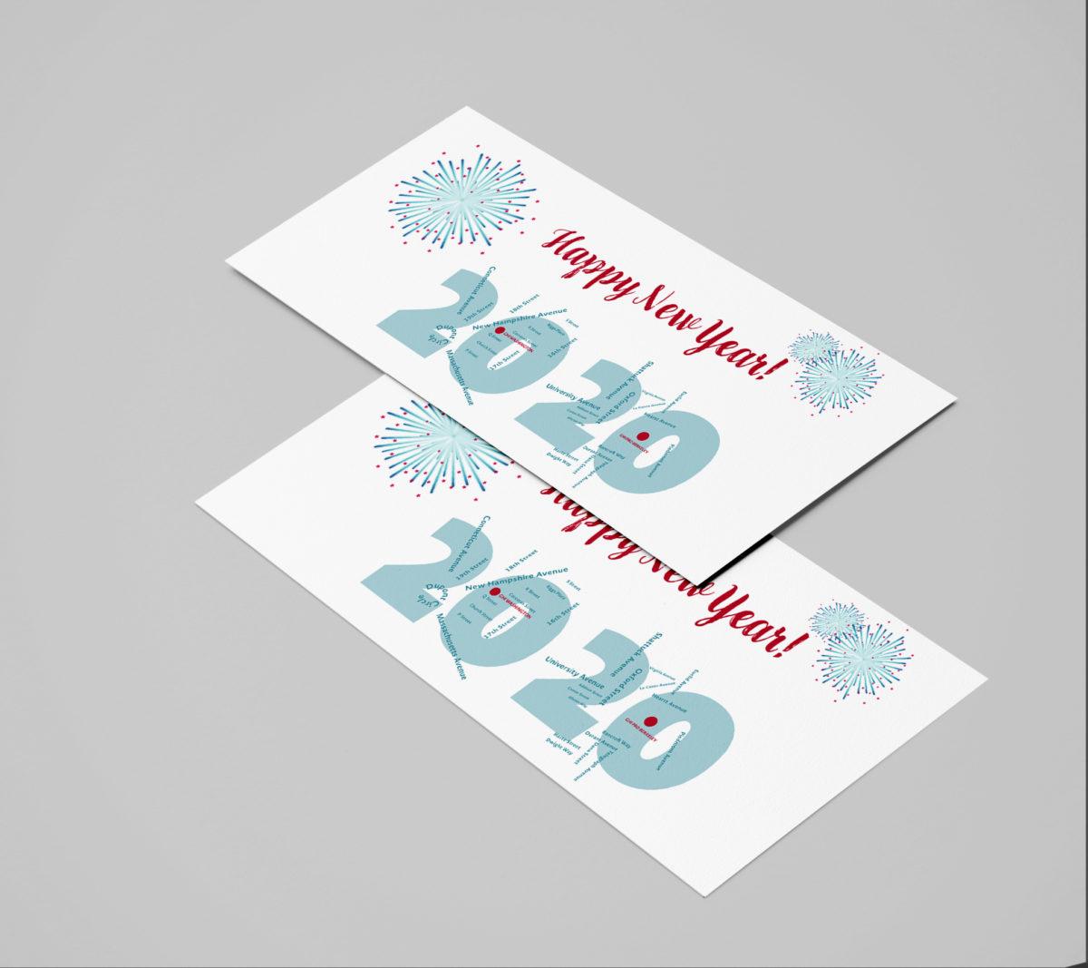 Neujahrskarte 2020 für das German Historical Institute in Washington und Berkeley