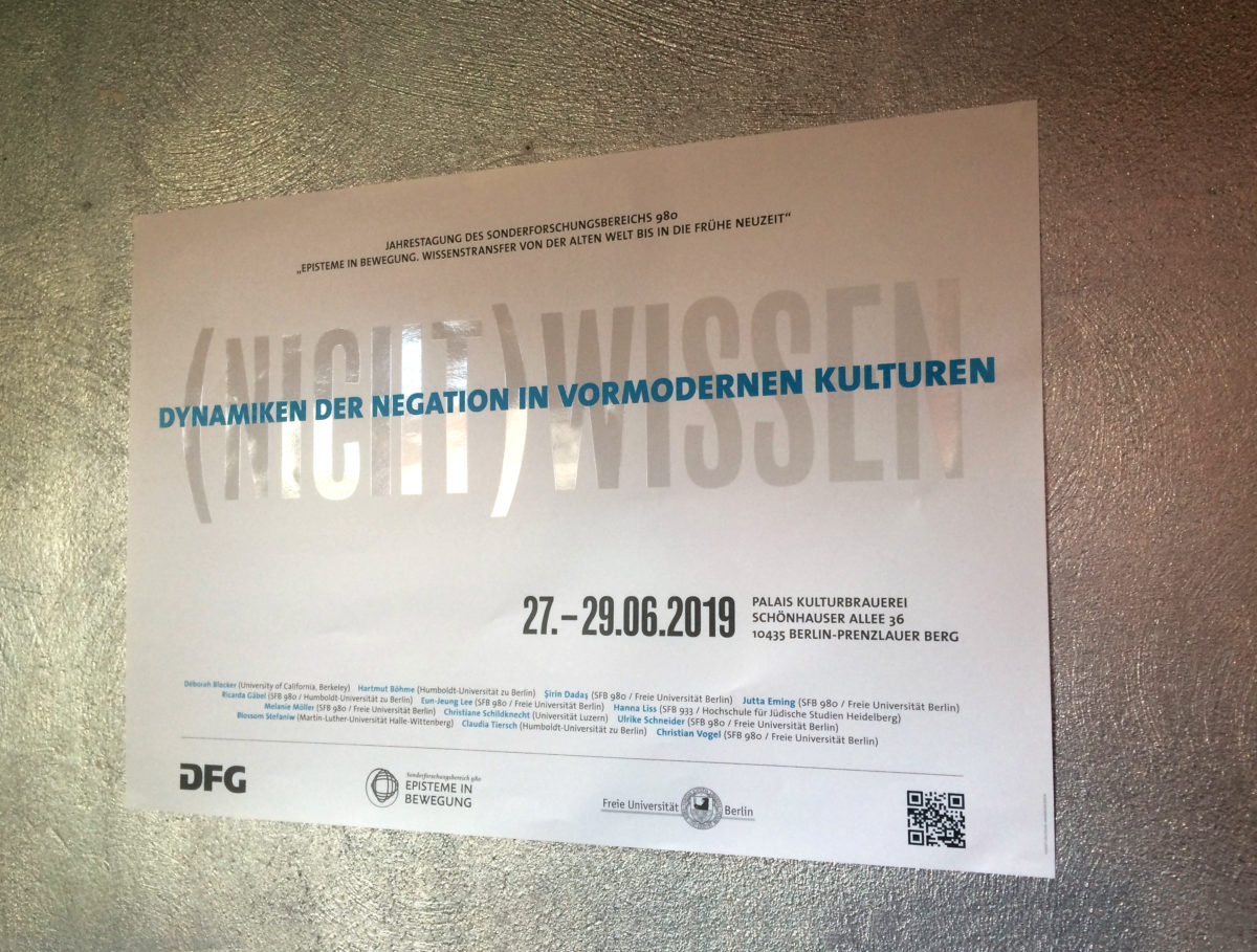 Design des Leitmotivs für die Jahrestagung des SFB 980 Episteme in Bewegung, Freie Universität Berlin, Plakat