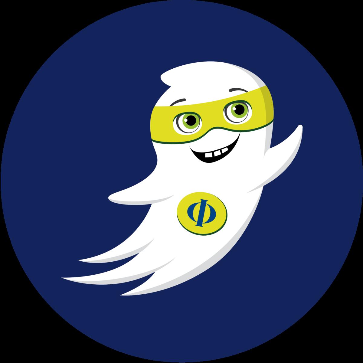 Maskottchen Geist Phi des FB Philosophie und Geisteswissenschaften der FU Berlin