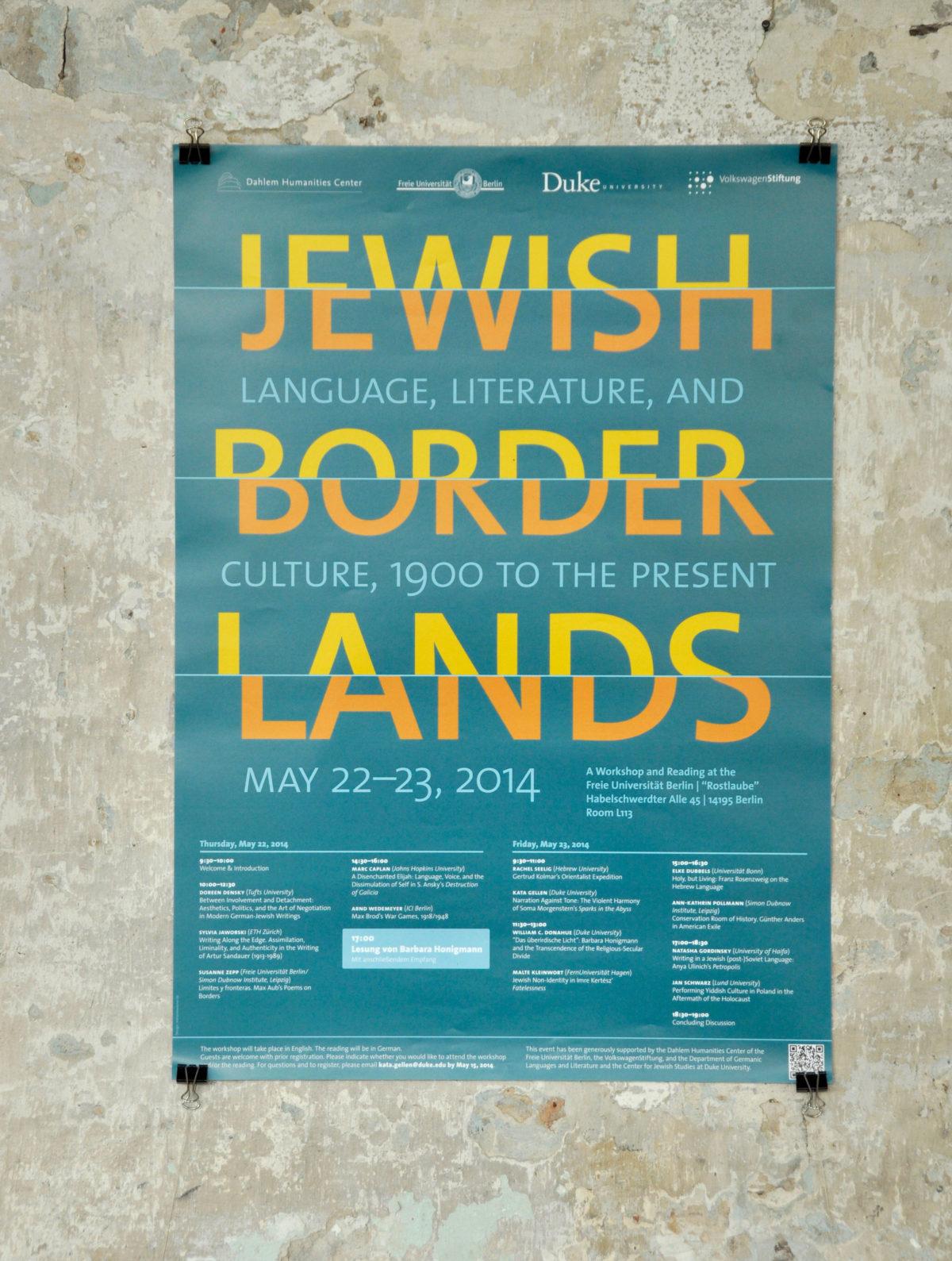 Design für einen Workshop des Dahlem Humanities Centers Berlin, Freie Universität Berlin, Poster