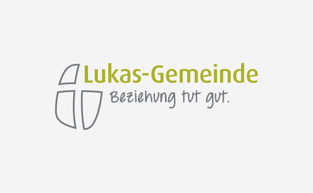 Logo-Redesign für Lukas-Gemeinde Berlin, Farbversion Startseite