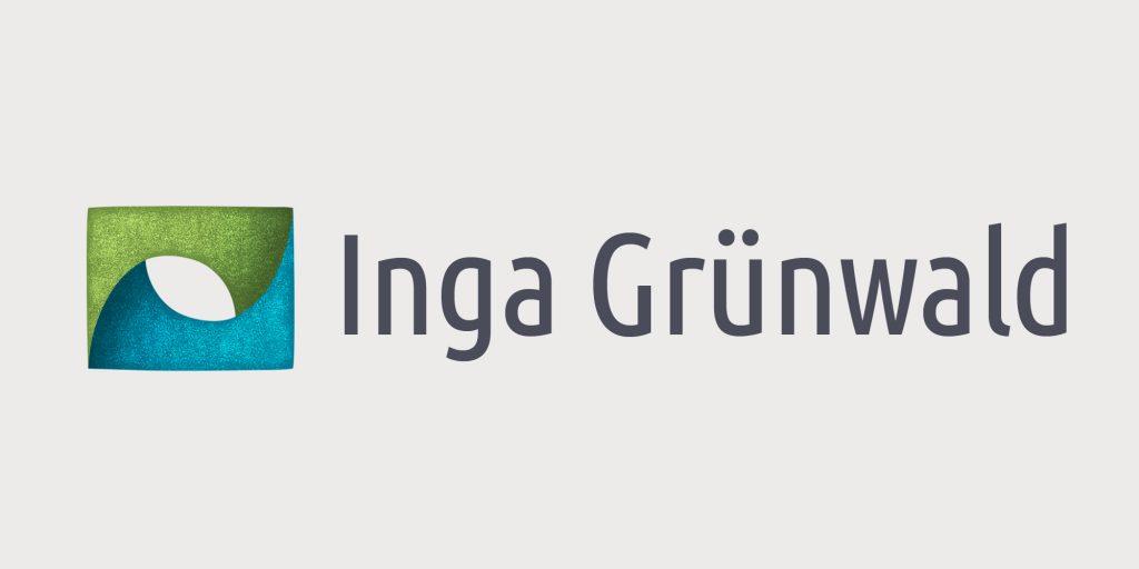 Vorschaubild Logo Inga Grünwald, Farben blau und grün