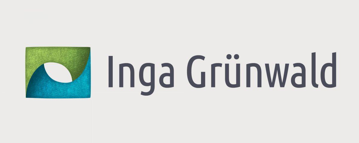 Signet und Schriftzug, Logo Inga Grünwald