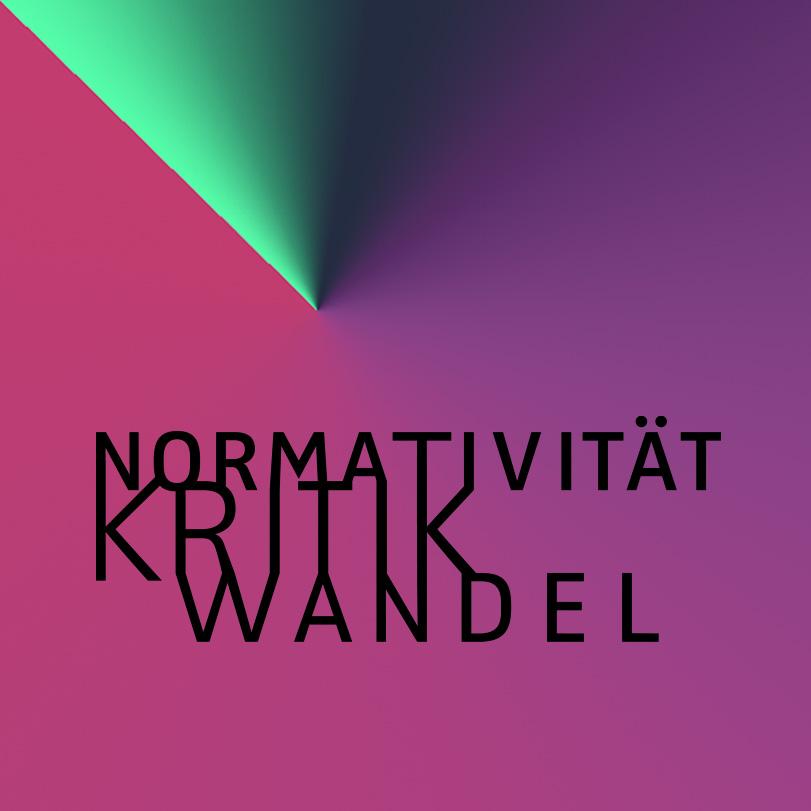"""Deutsche Version des Logos mit Primärfarben, Graduiertenkolleg 2638 """"Normativität Kritk Wandel"""" an der Freien Universität Berlin"""