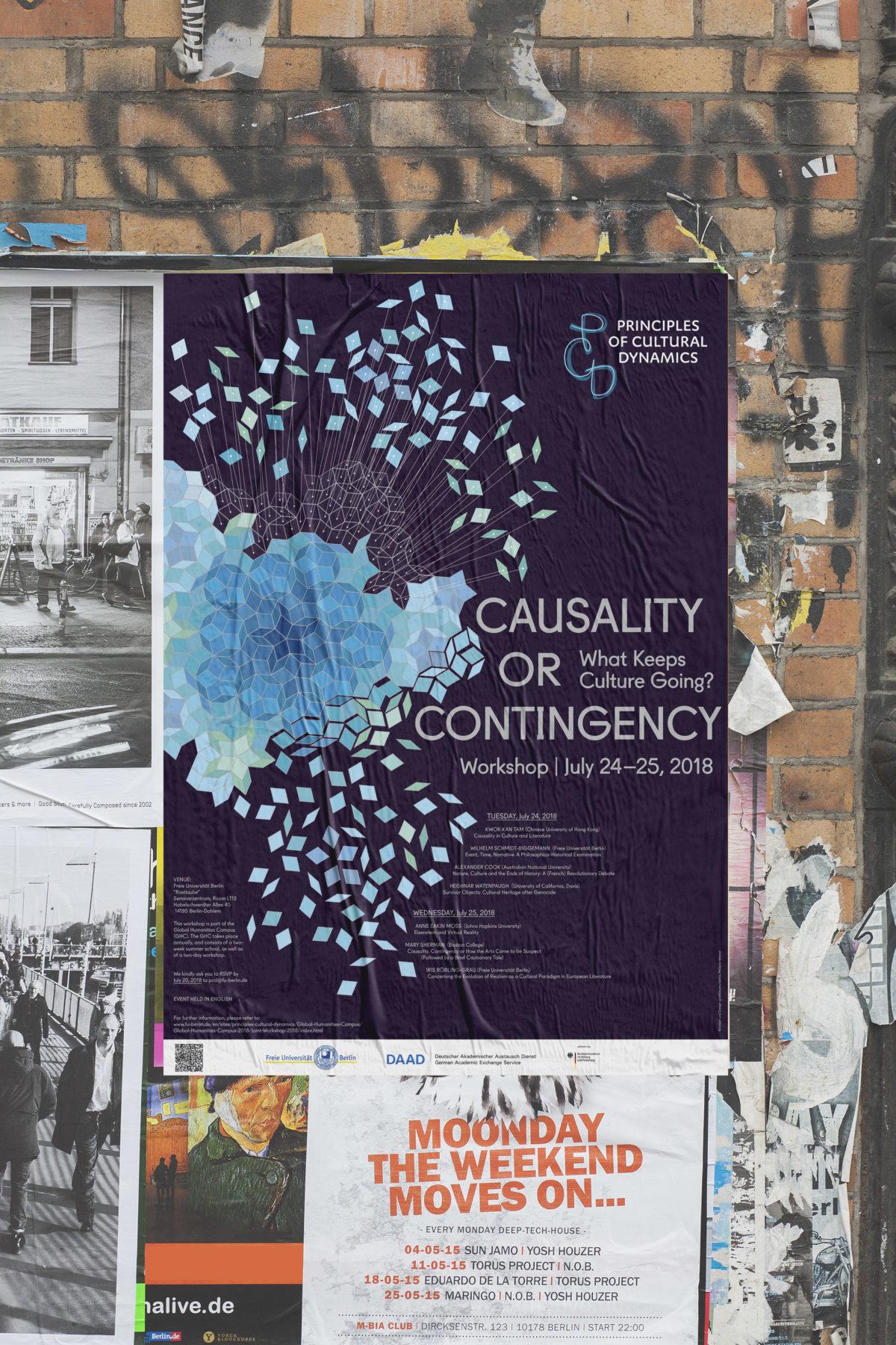 """Poster des Thematic Network """"Principles of Cultural Dynamics"""" der Freien Universität Berlin zur Jahrestagung 2018"""