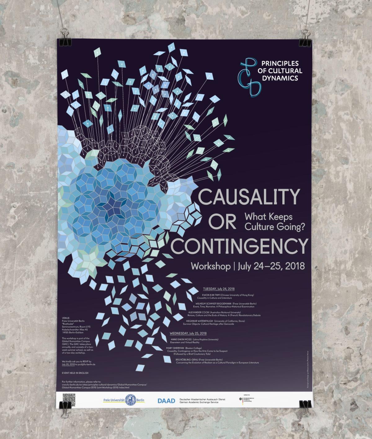 """Plakat des Thematic Network """"Principles of Cultural Dynamics"""" der Freien Universität Berlin zur Jahrestagung 2018"""