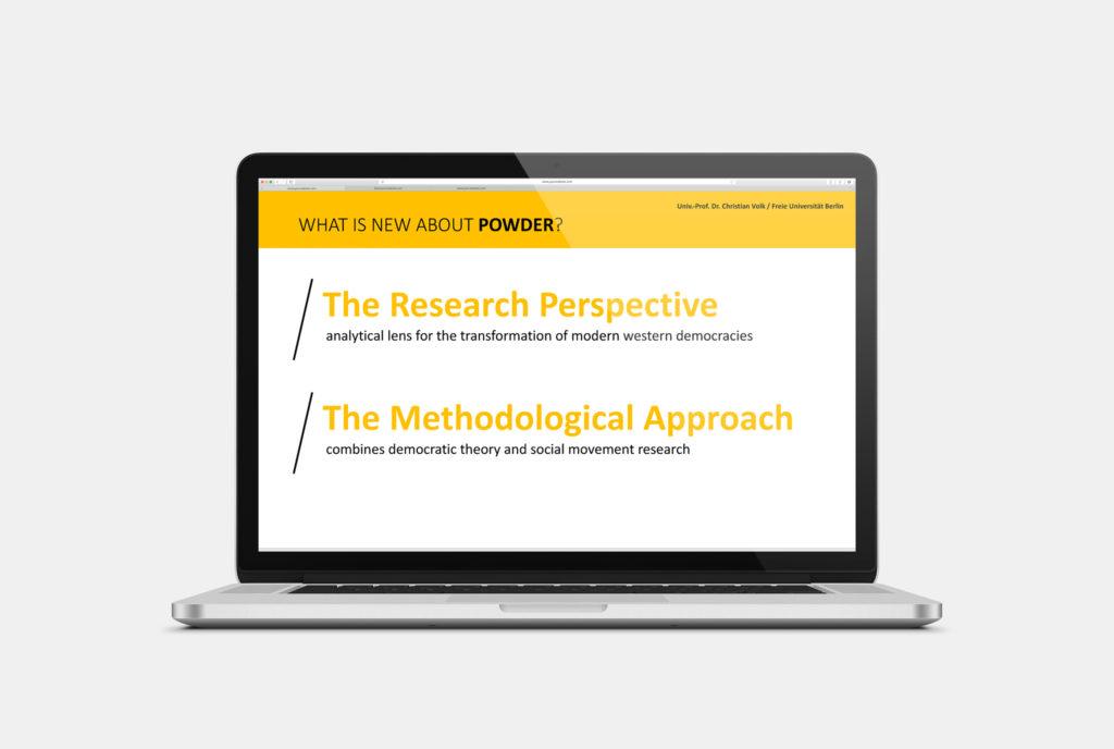 Vorschaubild, Praesentationsgestaltung in Powerpoint für einen Research-Antrag beim European Research Council, Bruessel