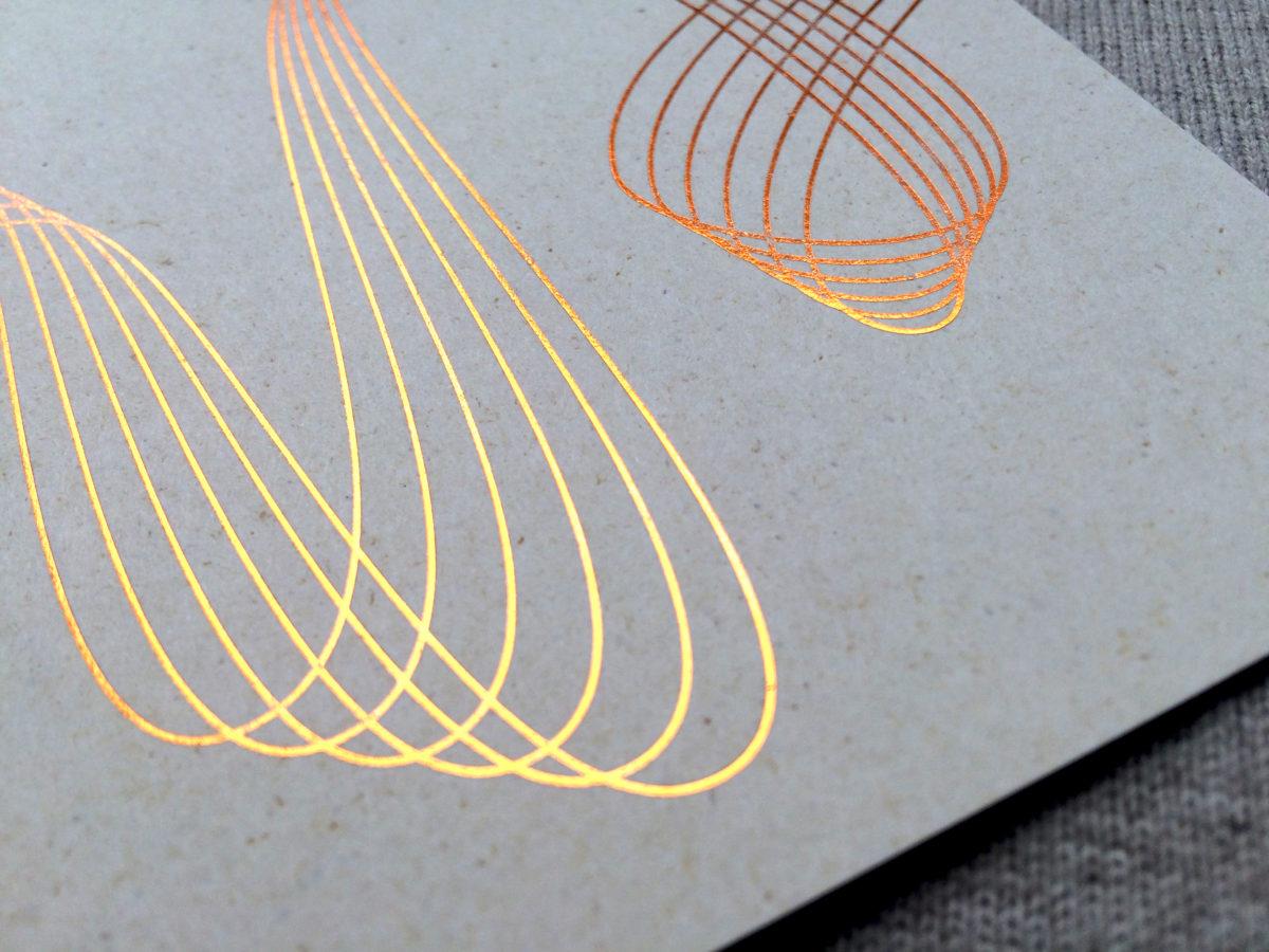 Detailaufnahme der Kupferfolie, Principle of Cultural Dynamics, Freie Universität Berlin