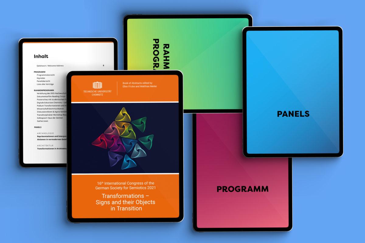Digitaler Abstractband für den Kongress der Deutschen Gesellschaft für Semiotik 2021, TU Chemnitz, Transformationen - Zeichen und ihre Objekte im Wandel