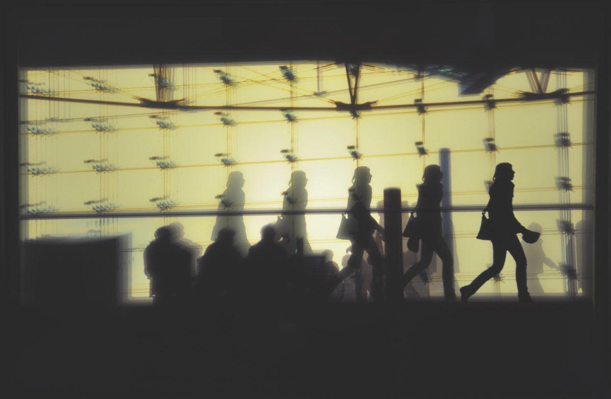 Tempografie-Motiv: Hinter Glas